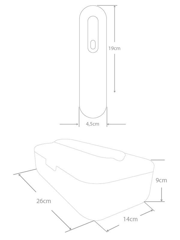 contenedor de desinfección portátil
